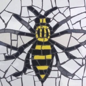 Manchester Worker Bee mosaic