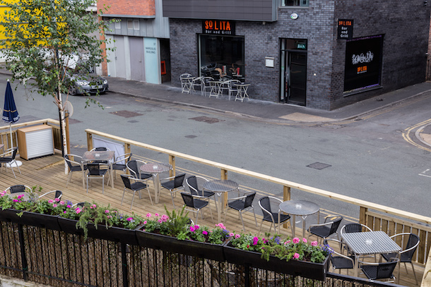 Solitas Beer Garden Sits Alongside The Main Restaurant