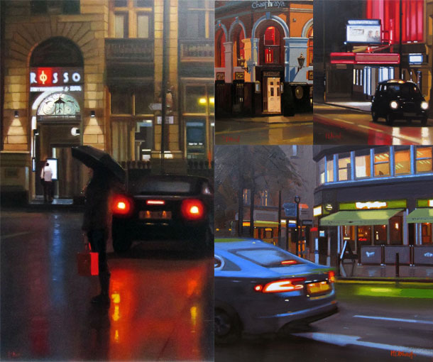 Michael John Ashcroft Reflections Of Manchester City Centre Montage