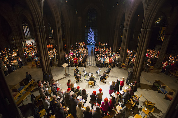 Manchester Cathedral Christmas