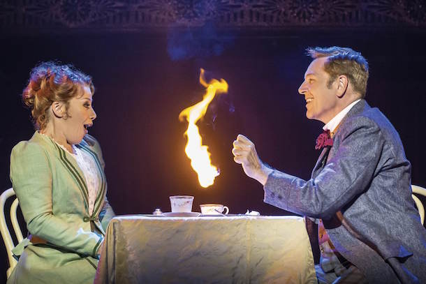 Barnum At The Palace Theatre Manchester Linzi Hateley As Chairy And Brian Conley As PT Barnum Photo By Johan Persson