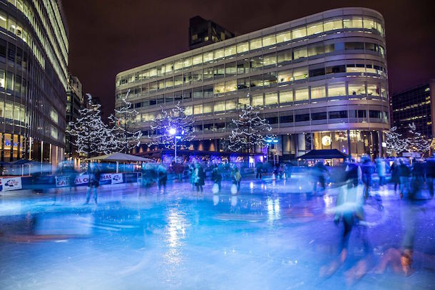 You Spin Me Right Round - Winter at Spinningfields I Love Manchester