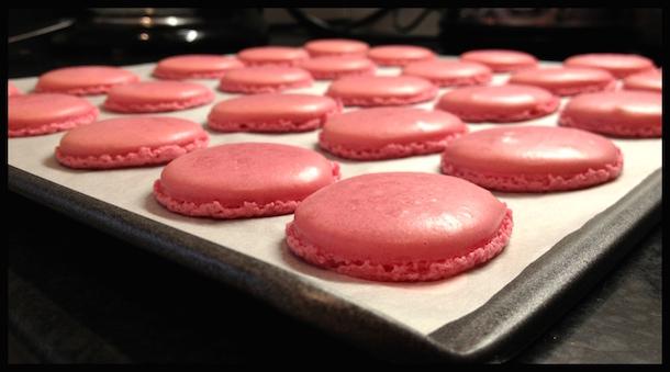 Pink Macaroons Tray