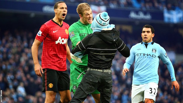 Manchester Derby Interfering Fan