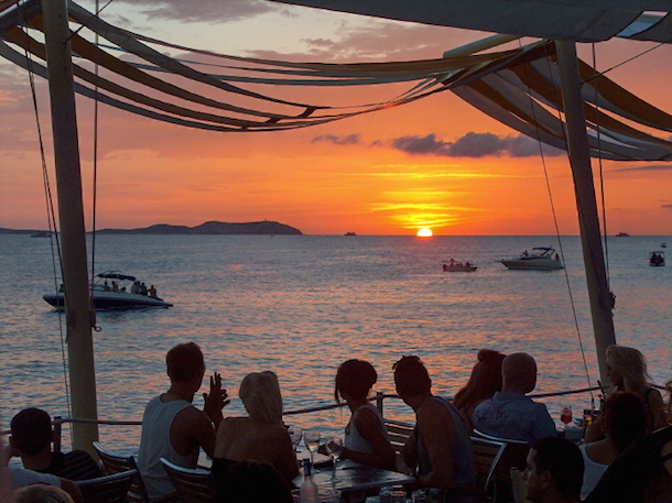 Ibiza Sunset At Cafe Mambo