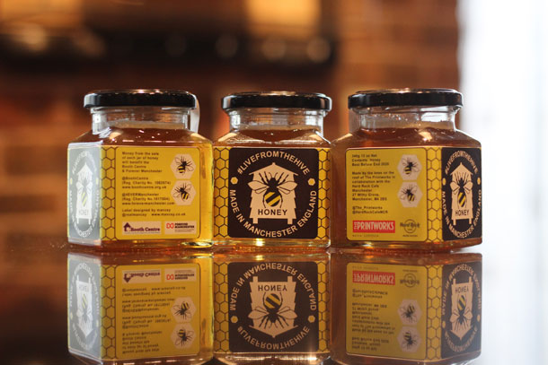 Livefromthehive Honey Manchester Jars