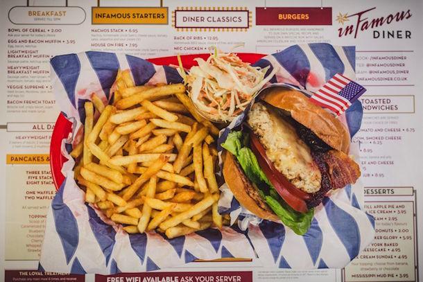 Turkey Burger Infamous Diner