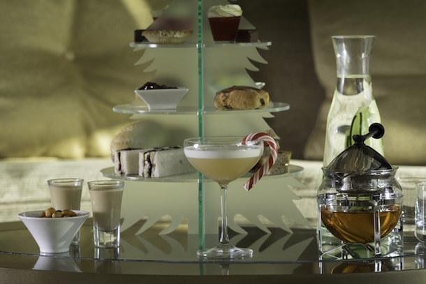 Festive Afternoon Tea At Cloud 23 Bar Hilton Manchester Deansgate PEL5969