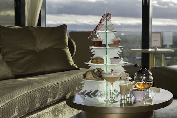 Festive Afternoon Tea At Cloud 23 Bar Hilton Manchester Deansgate PEL5979
