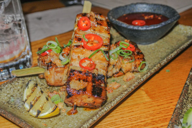 Cottonopolis NQ Manchester Review Yakatori Pork Belly
