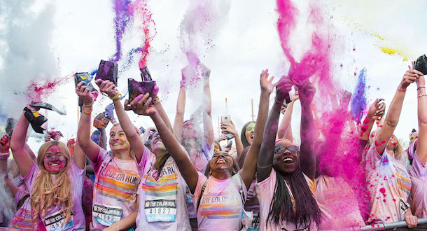 The happiest 5k on the planet is back to colour Manchester happy! I Love Manchester