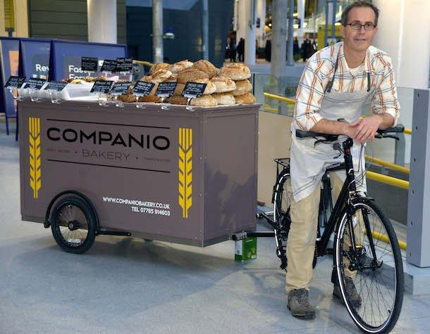 CB Bread Bike Trailer At Manchester Victoria 101115 Courtesy Gary Lough