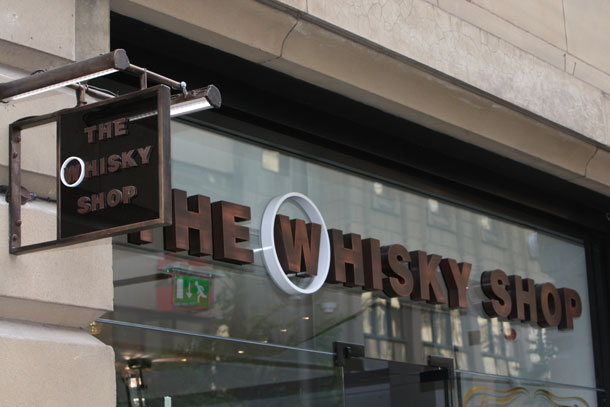 The Whisky Shop Manchester Exterior