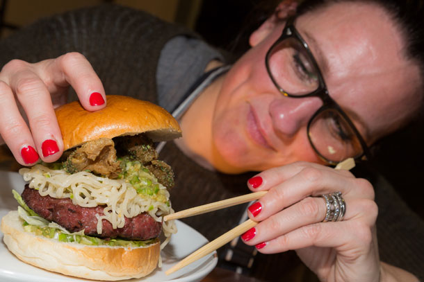 Solita Debbie Hall Evans Puts Finishing Touches To The Bang Thaidy Burger