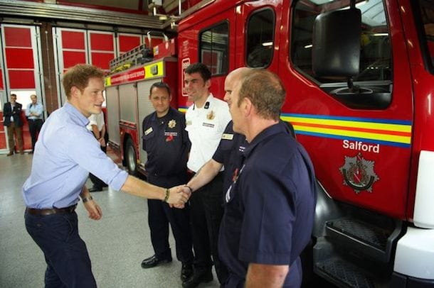 Prince Harry Visits Salford and Pays Tribute To Local Heroes I Love Manchester