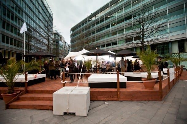 Stylish summer pop-up bar The Yacht Club pops up in Spinningfields I Love Manchester