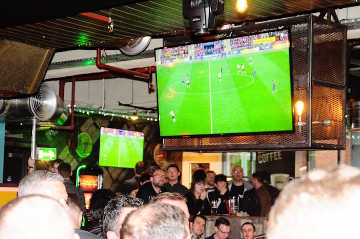 Head to this sports bar in The Printworks for table service and towers of beer I Love Manchester