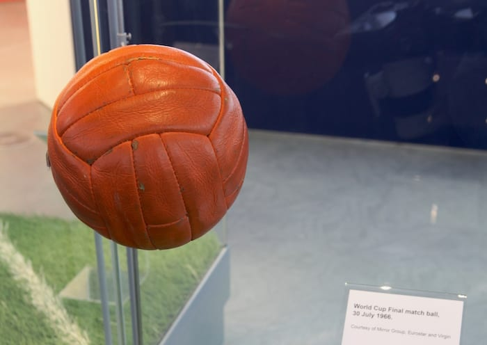 1966 World Cup Exhibition at the National Football Museum opens 24th June 2016 Pictured: The 1966 World Cup Final match day ball. Further Info: Hugh Thomas footballmuseum@wearebrazenpr.com 07703 832104 PR and Press Release Distribution only. Further or additional use requires permission. Picture © Jason Lock Photography +44 (0) 7889 152747 +44 (0) 161 431 4012 info@jasonlock.co.uk www.jasonlock.co.uk