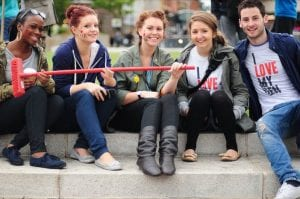 Lovely volunteers help clean-up Manchester city centre after the riots I Love Manchester