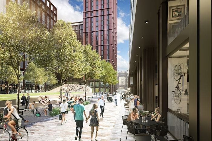 Manchester's newest neighbourhood set on bringing more green space and character to the city centre I Love Manchester