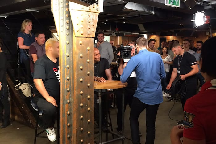 Ex City player turns up at NQ bar for first ever broadcast of new Sky football show I Love Manchester