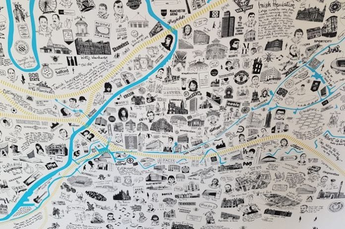 Top Manchester consultancy unveils magnificent hand-illustrated map
