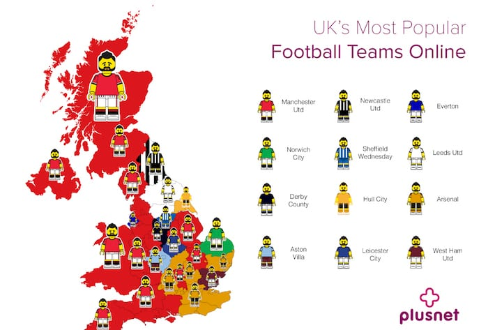 plusnetThe UK Football Search Data map