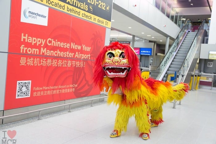Manchester Airport gets into the Chinese New Year spirit I Love Manchester