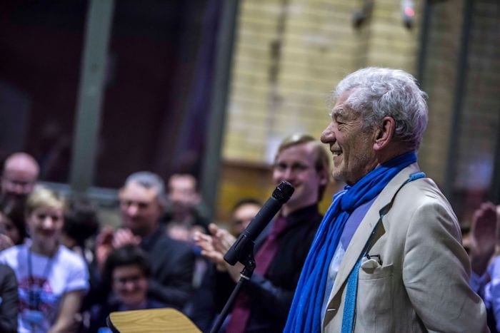 Sir Ian McKellen opens LGBT rights exhibition at People's History Museum I Love Manchester