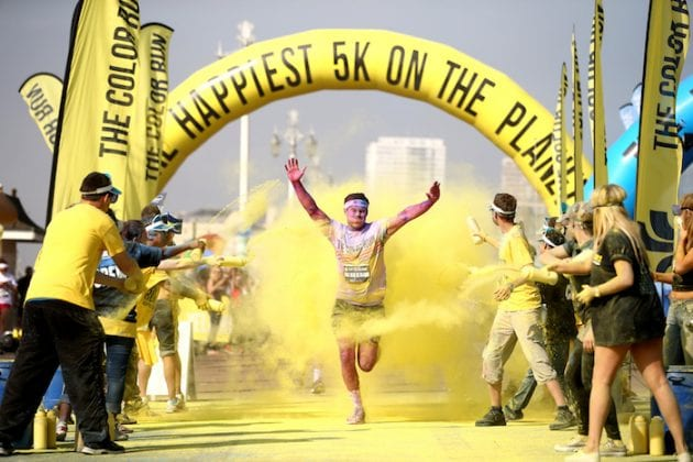 The happiest and most colourful 5k on the planet is coming back to Manchester I Love Manchester