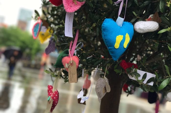 Love spreads: thousands of hearts appear in Manchester city centre I Love Manchester
