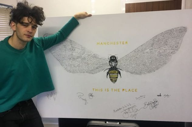 Let There Bee Love: famous names sign bee artwork to raise money for Forever Manchester I Love Manchester