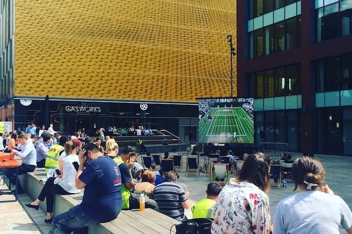 Catch all the Wimbledon 2018 action live at First Street this summer I Love Manchester