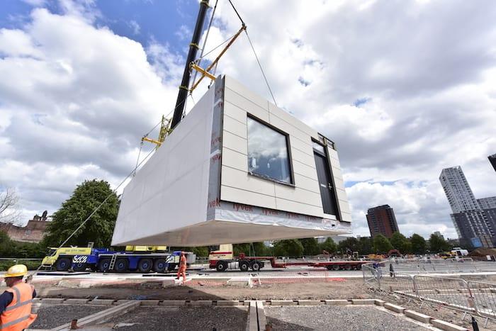 First modular homes arrive at new Manchester waterside development I Love Manchester