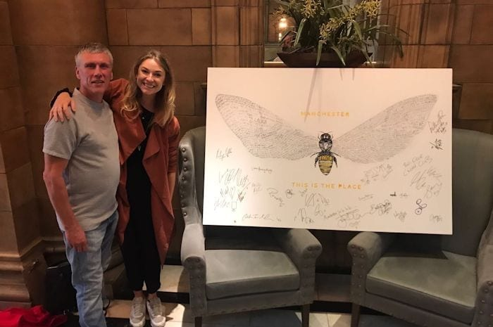 Charity auction of Manchester bee art signed by the stars starts today I Love Manchester