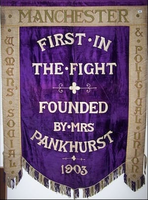 Help bring a historic suffragette banner back to Manchester I Love Manchester