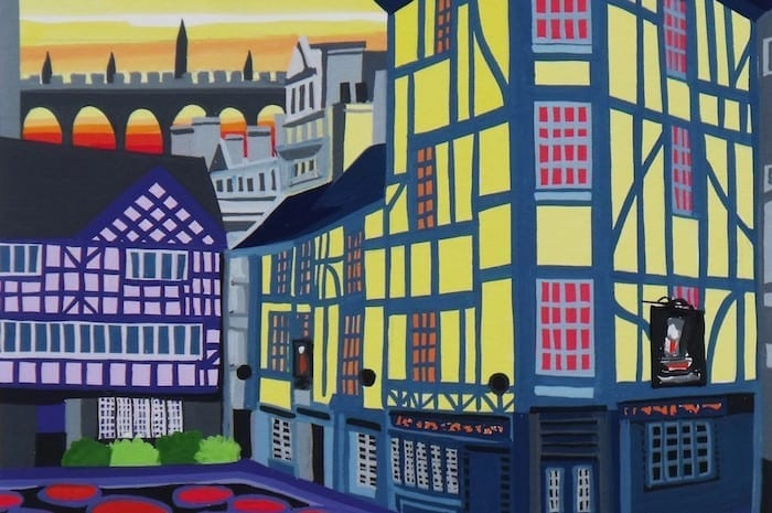 'I love Manchester – it's as simple as that': artist Jean Hobson captures the face of a changing city I Love Manchester