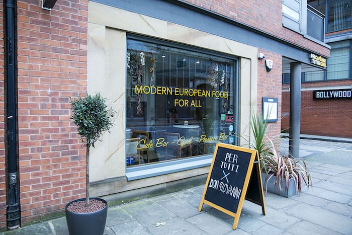 Don Giovanni takes over at Per Tutti with Italian-style Christmas pop-up I Love Manchester