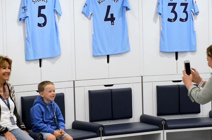 Take the new Man City Stadium and Club Tour featuring new players tunnel and dressing rooms I Love Manchester
