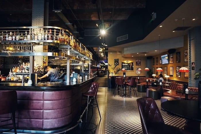 All star lanes Manchester bar