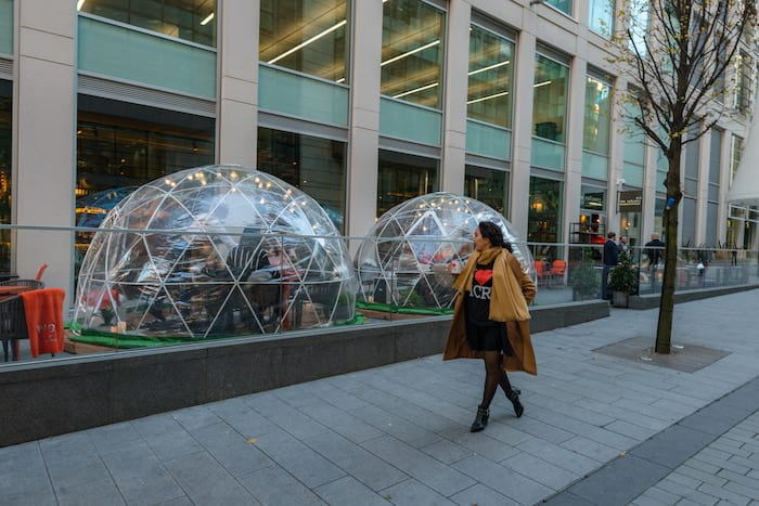 Christmas igloos finally arrive at Spinningfields - serving up prosecco for just £19.95 I Love Manchester