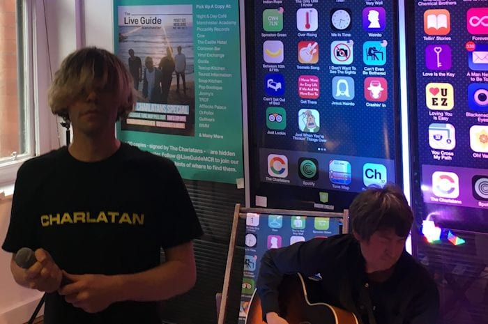 The Charlatans perform their most intimate gig ever - in an office in the Northern Quarter! I Love Manchester