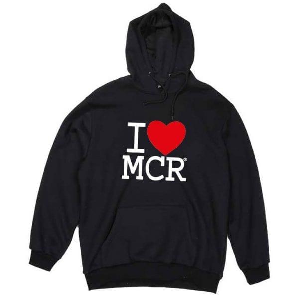I Love MCR® Hoodie Black I Love Manchester