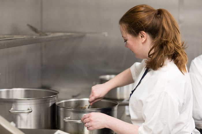 Charity event sees chefs challenge food writers to spend a day in the kitchen - can they stand the heat? I Love Manchester
