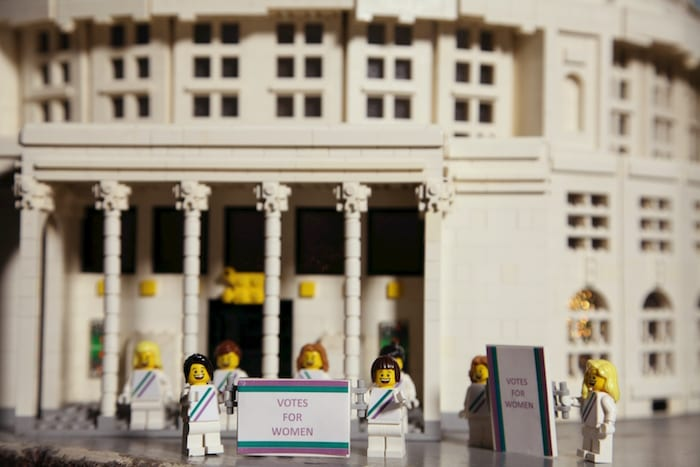 Legoland Discovery Centre Manchester recreates suffragette march I Love Manchester