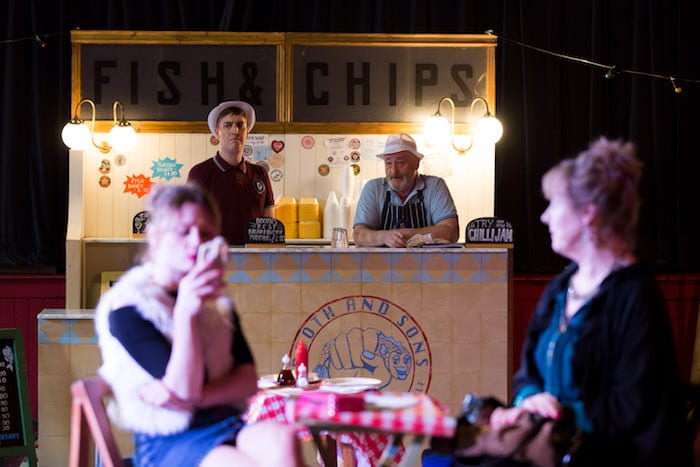 This is the play that's set in a chippy - and the audience gets free fish and chips I Love Manchester