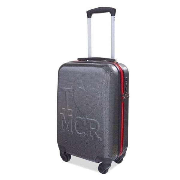 I Love MCR Suitcase (Carbon with Red Zipper) I Love Manchester