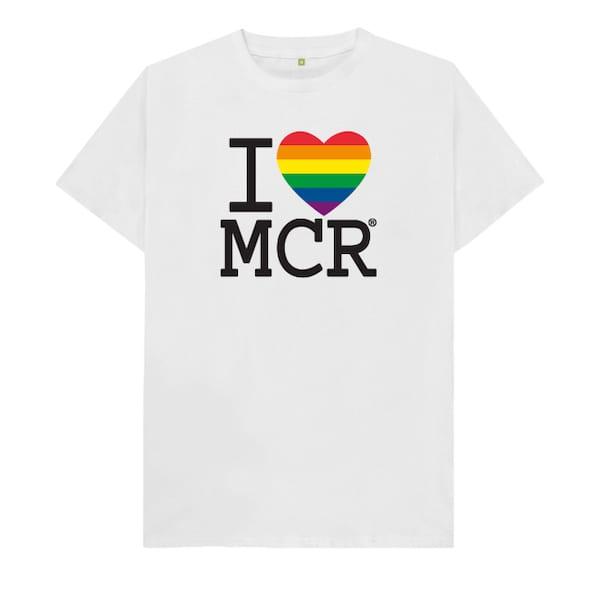 Unisex I Love MCR Pride T-Shirt I Love Manchester
