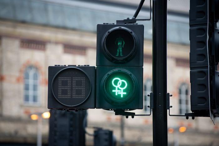 LGBTQ traffic signals celebrating Manchester Pride Festival get green light I Love Manchester