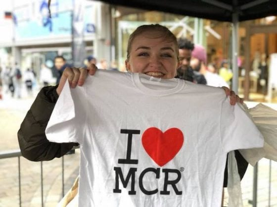 Students! Can you eat a Manchester tart with your arms behind your back in less than 30 seconds? I Love Manchester